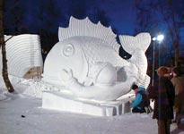 ŠVEDSKA: Snežni festival Kiruna