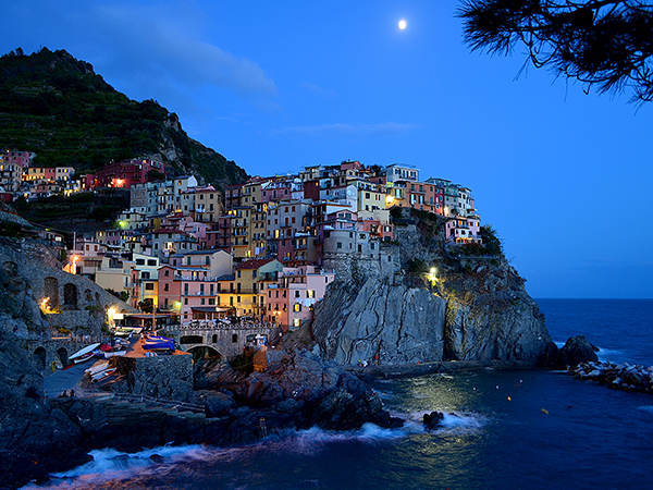 Beautiful village, Manarola in Cinque Terre,Italy